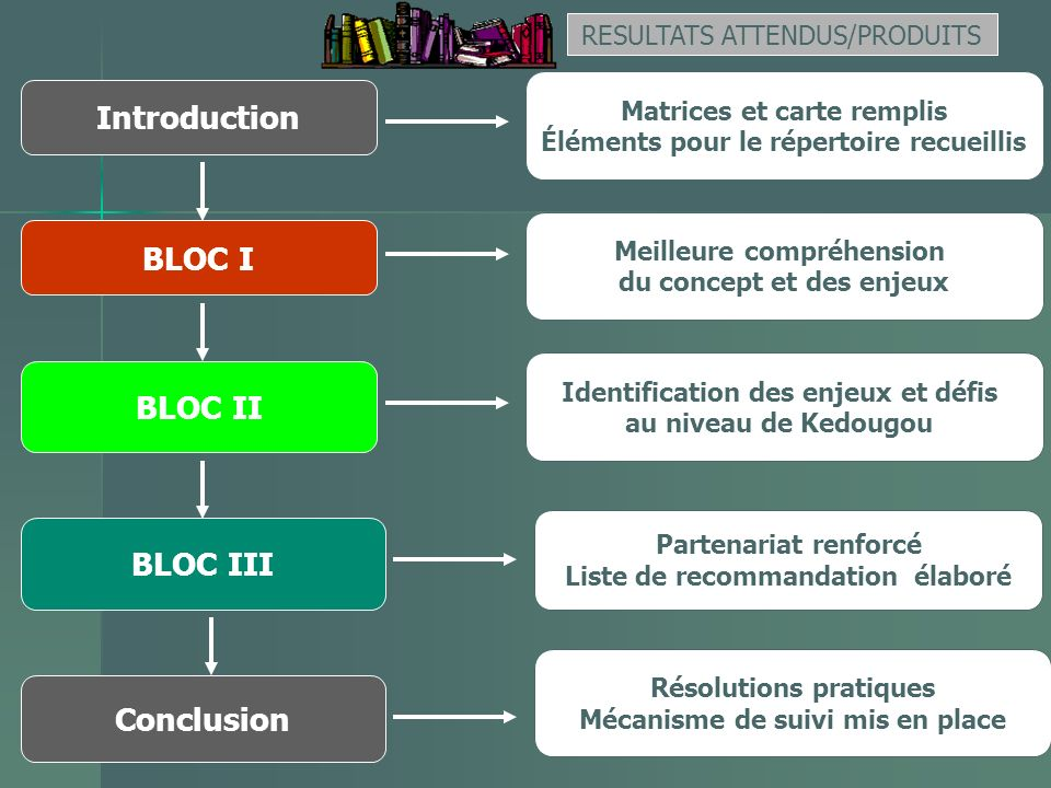 Introduction BLOC I BLOC II BLOC III Conclusion