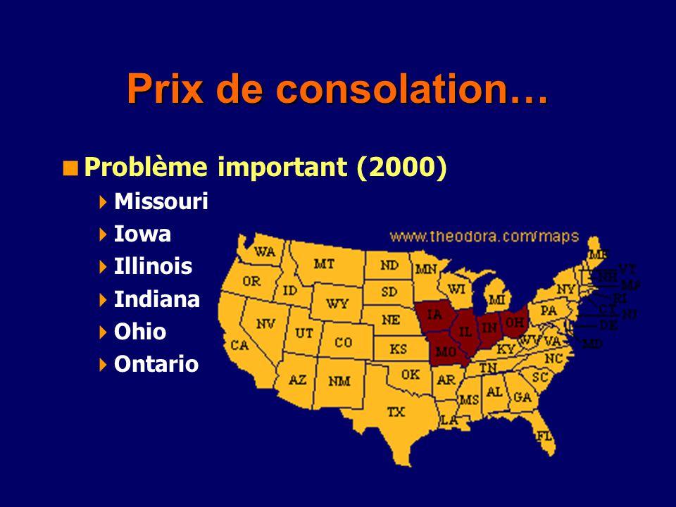 Prix de consolation… Problème important (2000) Missouri Iowa Illinois