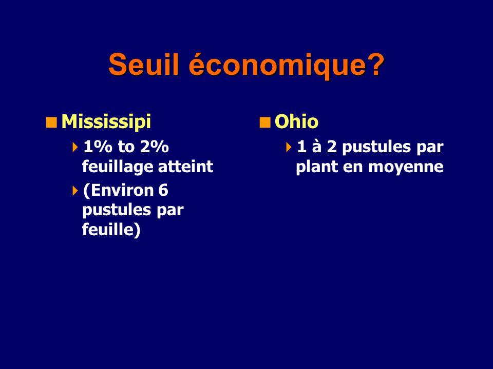 Seuil économique Mississipi Ohio 1% to 2% feuillage atteint