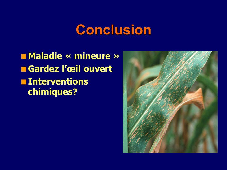 Conclusion Maladie « mineure » Gardez l'œil ouvert