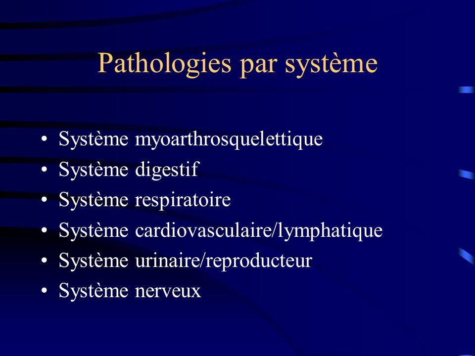 Pathologies par système