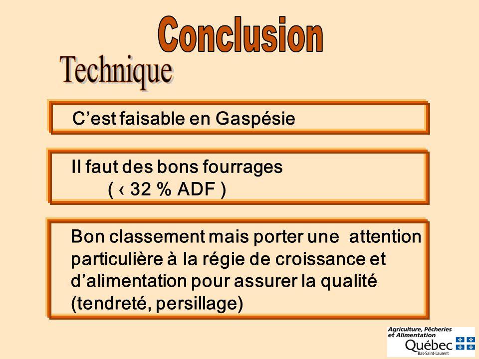 Conclusion Technique C'est faisable en Gaspésie