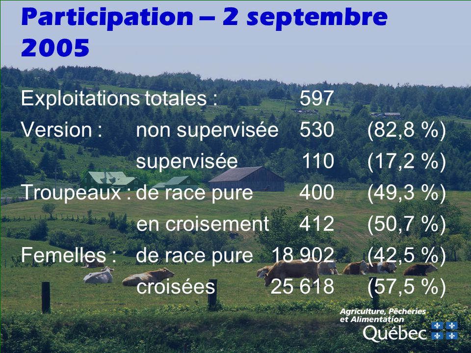 Participation – 2 septembre 2005