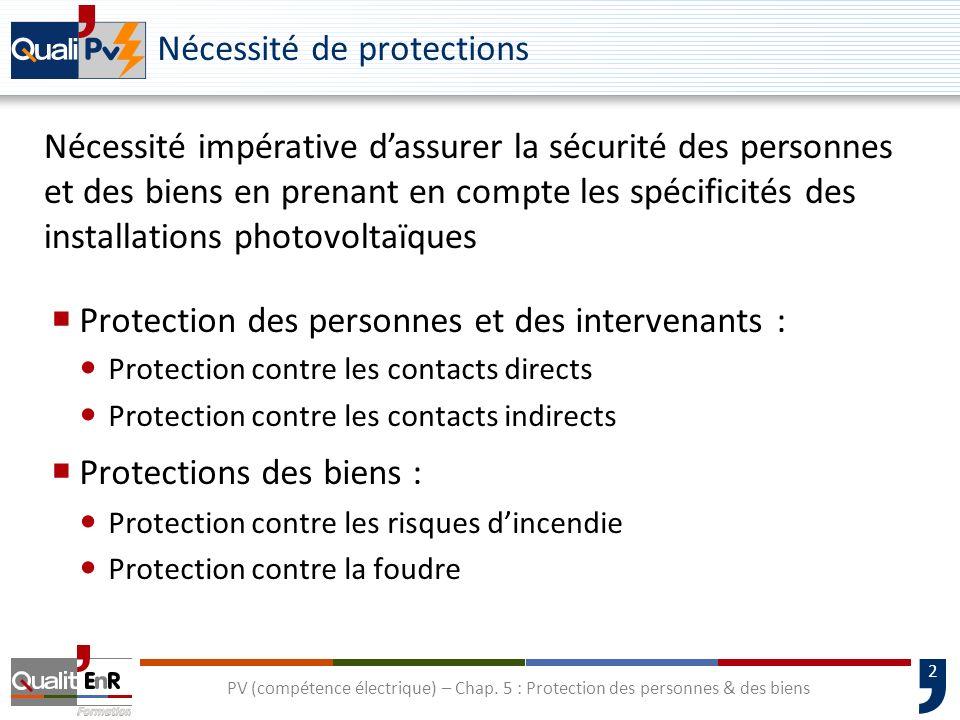 Nécessité de protections