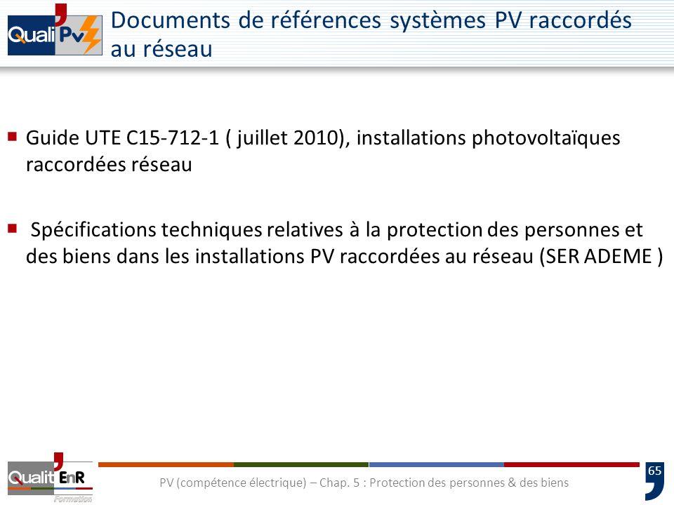 Documents de références systèmes PV raccordés au réseau