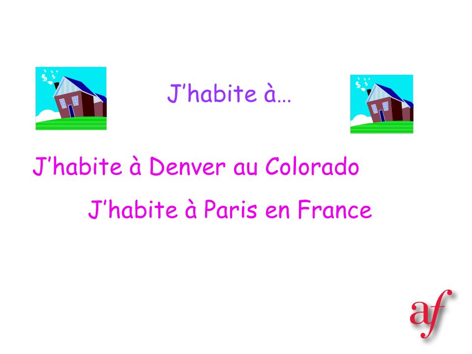 J'habite à Denver au Colorado