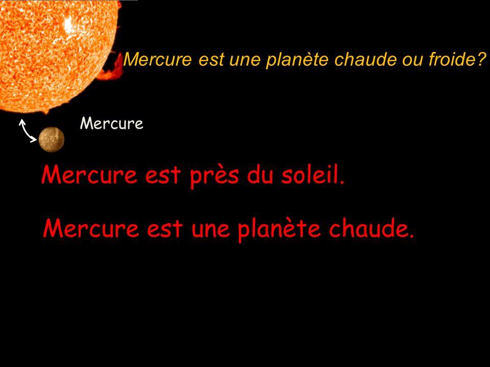 Mercure est près du soleil.