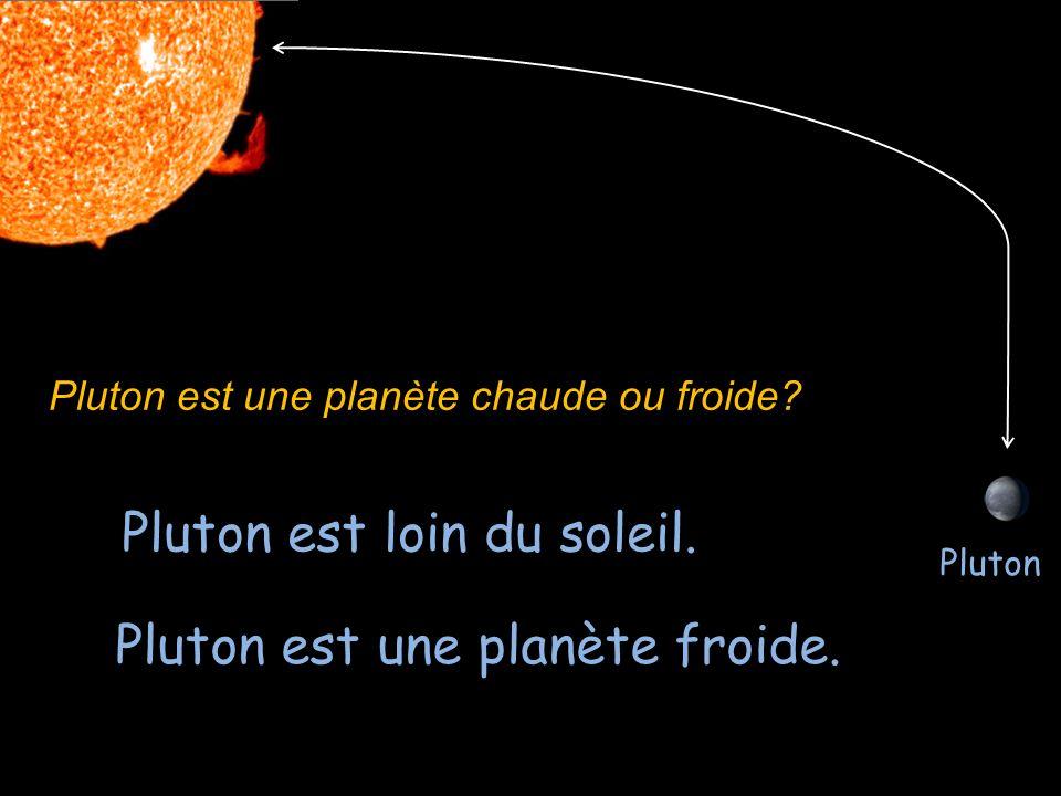 Pluton est loin du soleil.