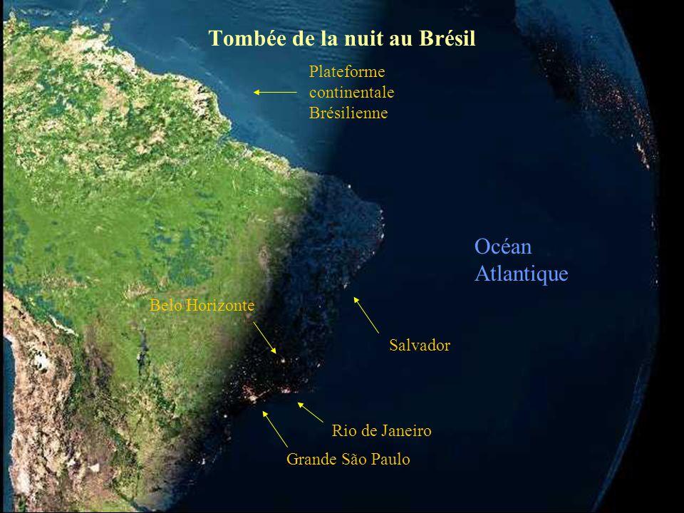 Tombée de la nuit au Brésil