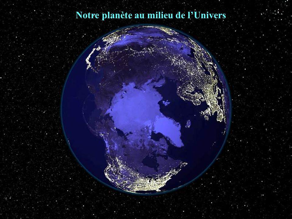Notre planète au milieu de l'Univers