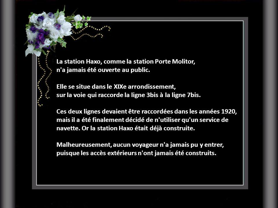 La station Haxo, comme la station Porte Molitor,