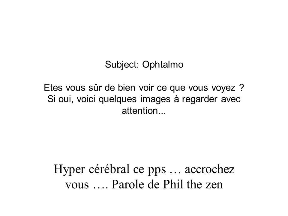 Hyper cérébral ce pps … accrochez vous …. Parole de Phil the zen