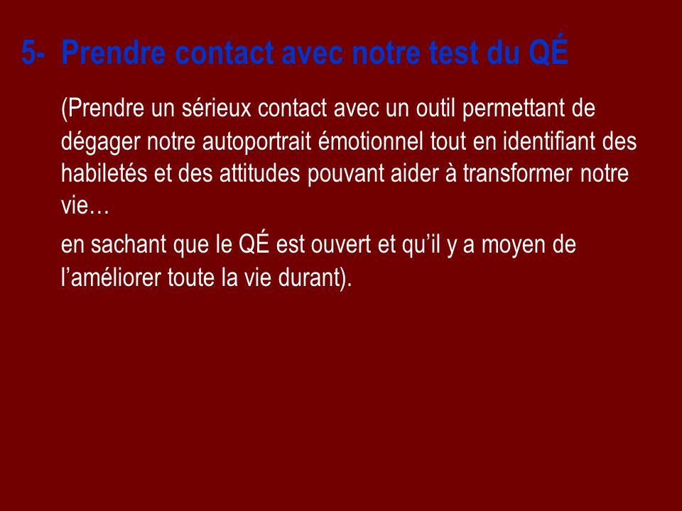 5- Prendre contact avec notre test du QÉ