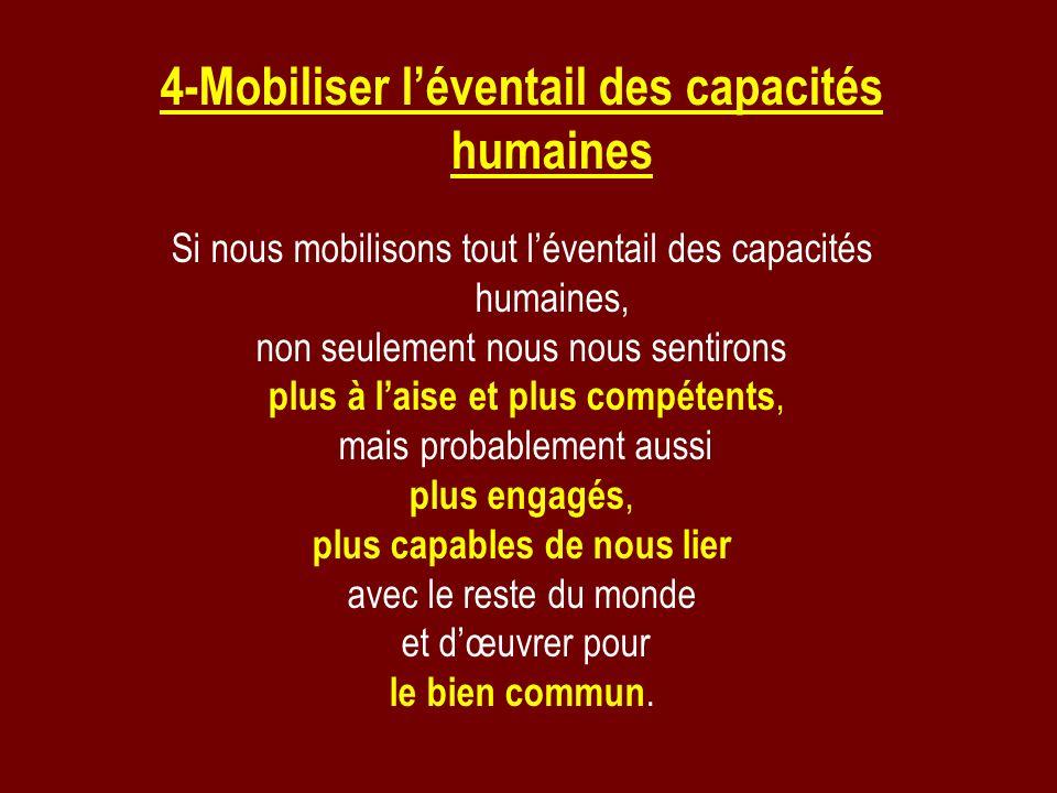 4-Mobiliser l'éventail des capacités humaines