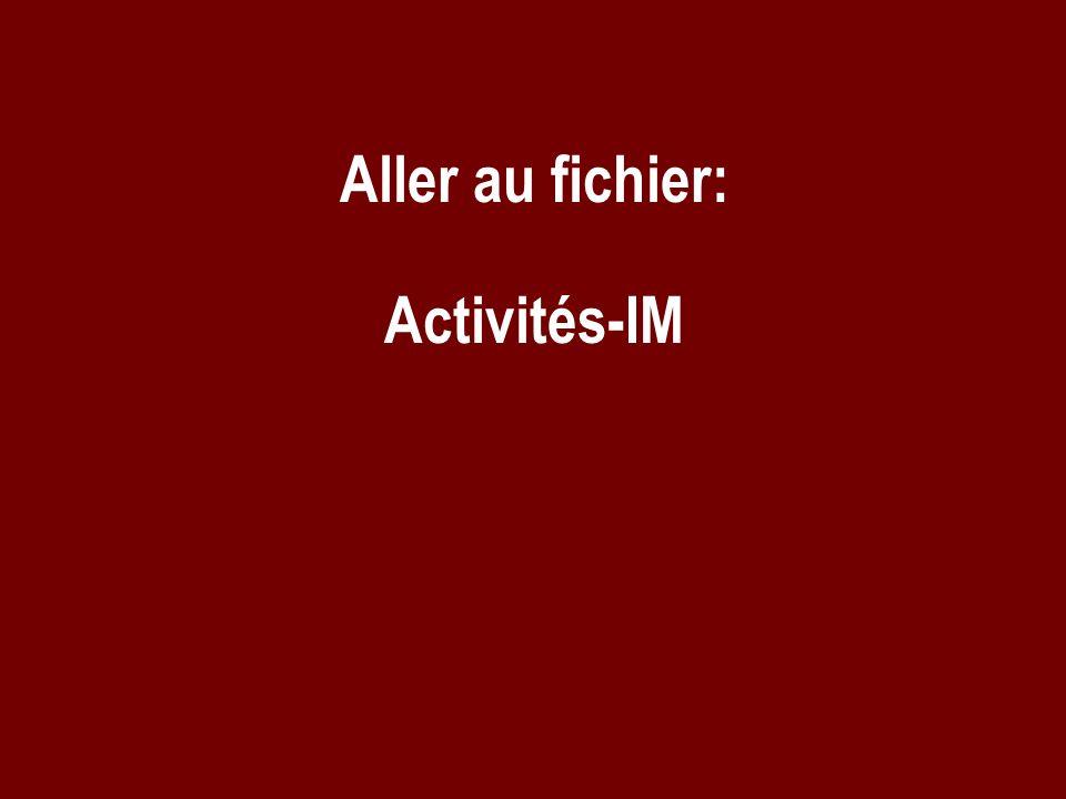 Aller au fichier: Activités-IM