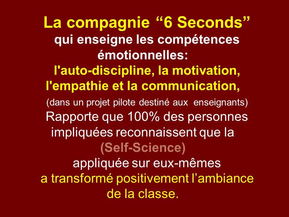 La compagnie 6 Seconds qui enseigne les compétences émotionnelles:
