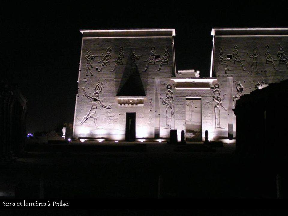 Sons et lumières à Philaë.