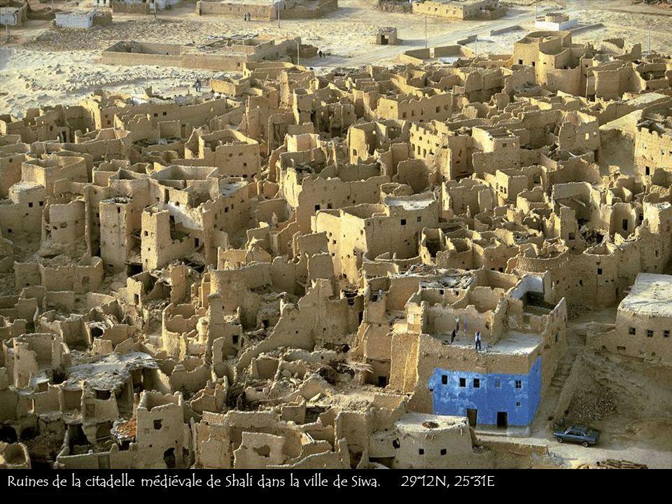 Ruines de la citadelle médiévale de Shali dans la ville de Siwa