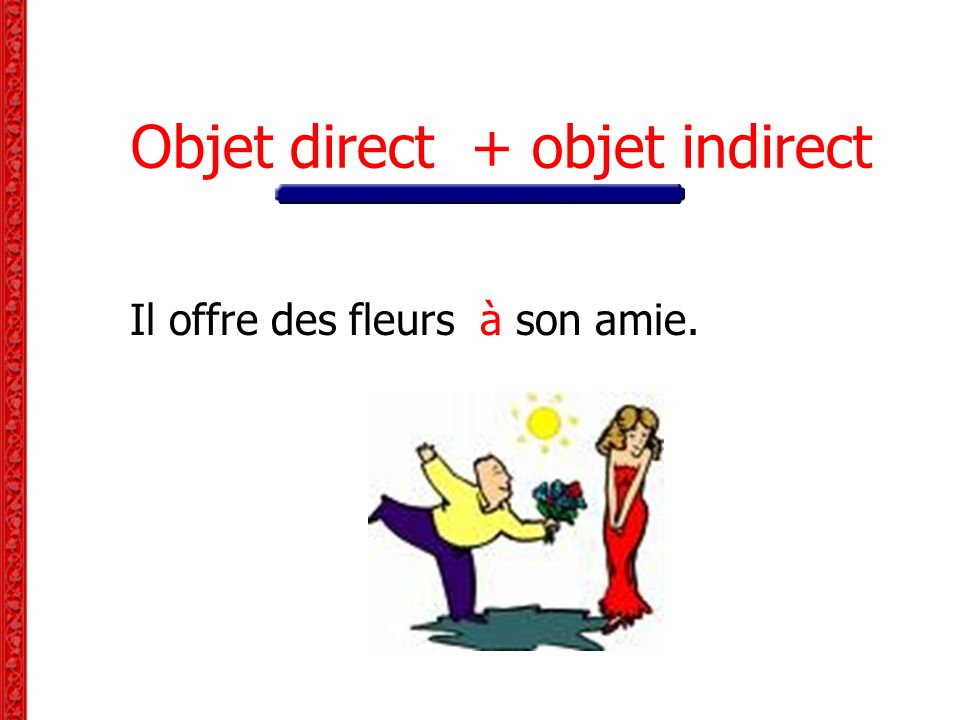 Objet direct + objet indirect