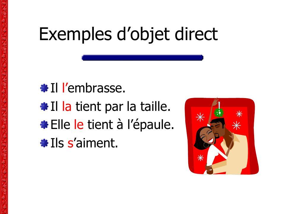 Exemples d'objet direct