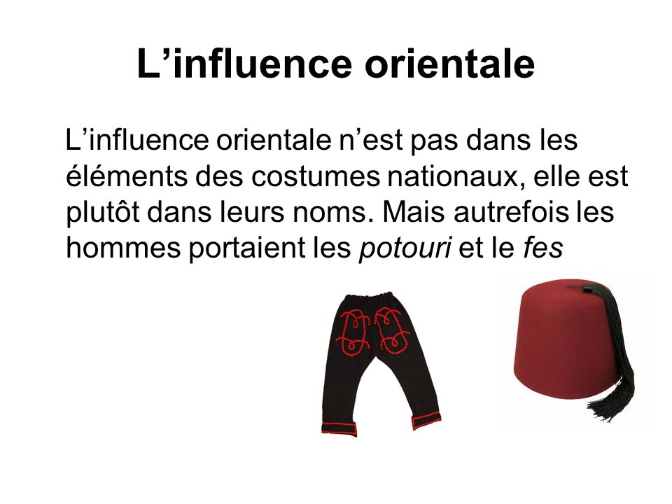 L'influence orientale