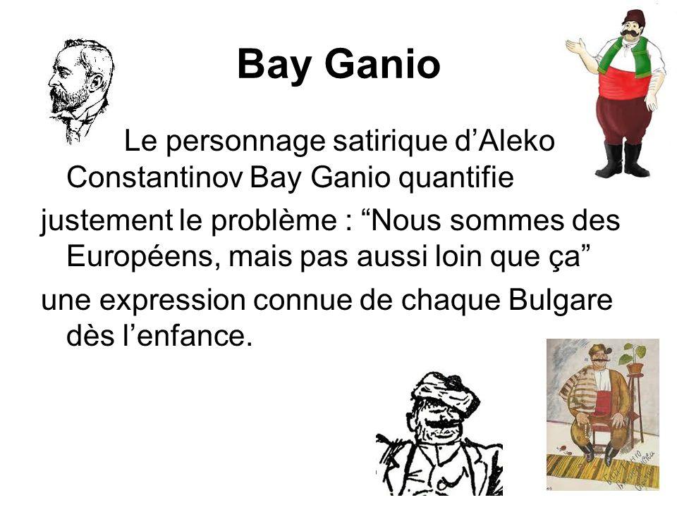 Bay Ganio Le personnage satirique d'Aleko Constantinov Bay Ganio quantifie.