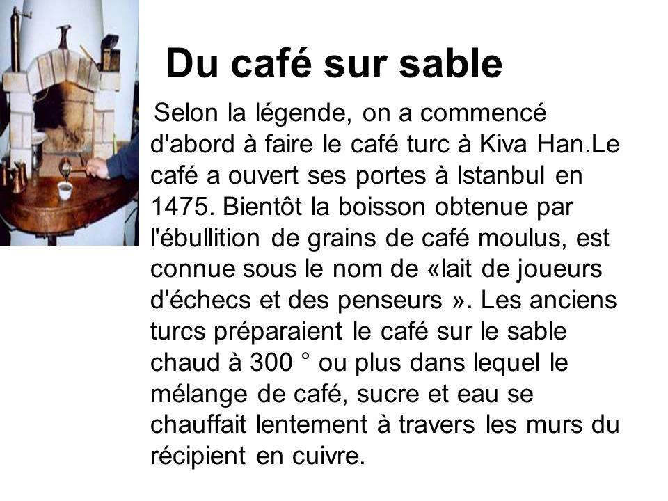 Du café sur sable