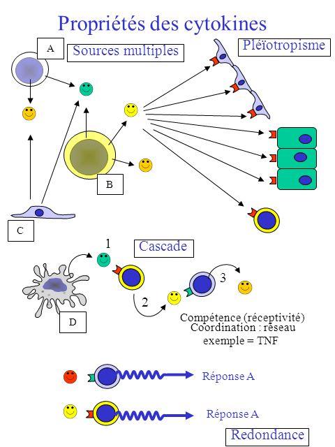 Propriétés des cytokines
