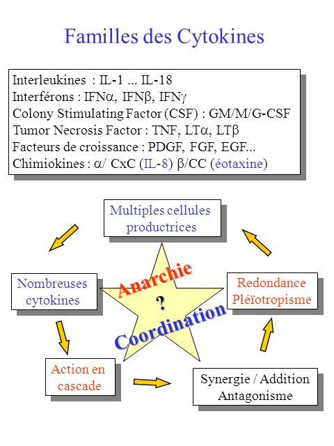 Familles des Cytokines