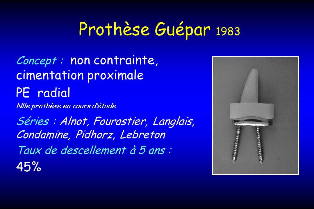 Prothèse Guépar 1983 PE radial 45%