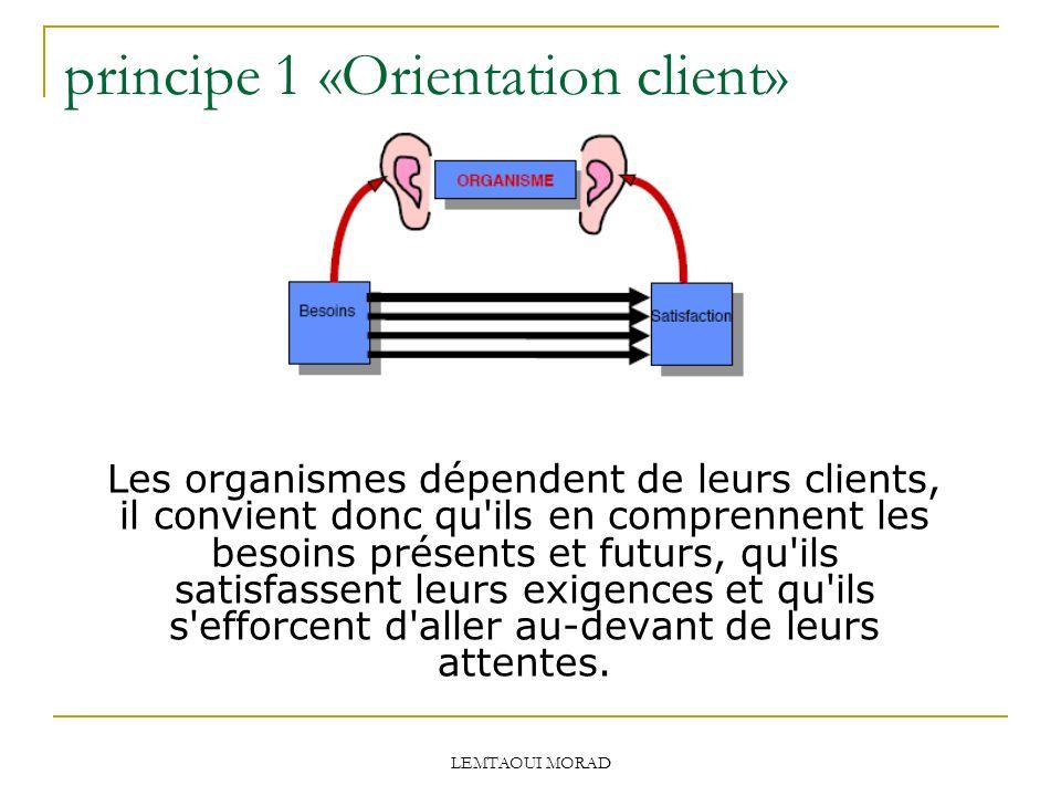 principe 1 «Orientation client»