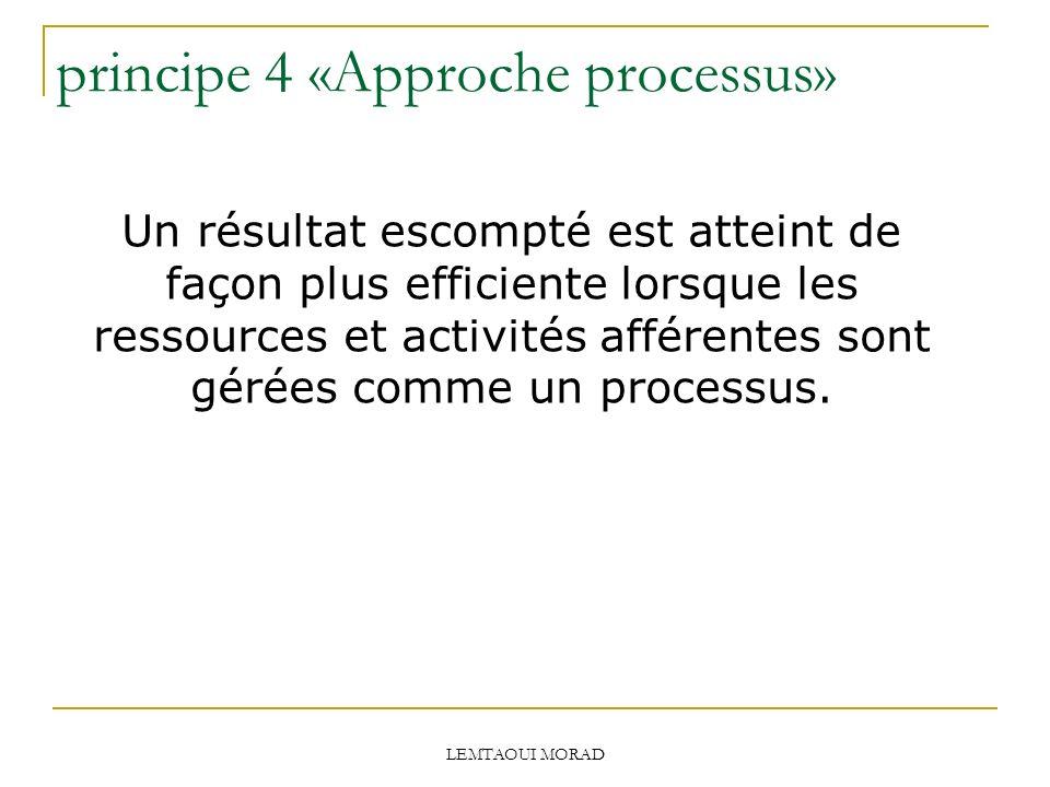 principe 4 «Approche processus»