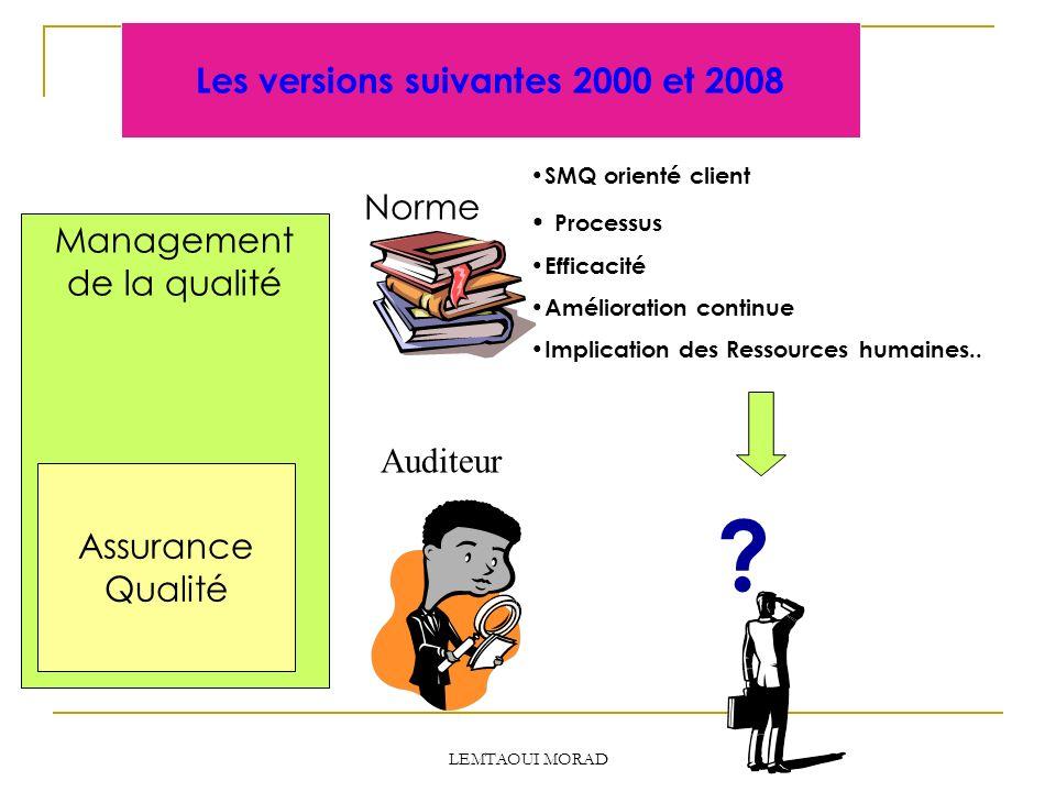 Les versions suivantes 2000 et 2008