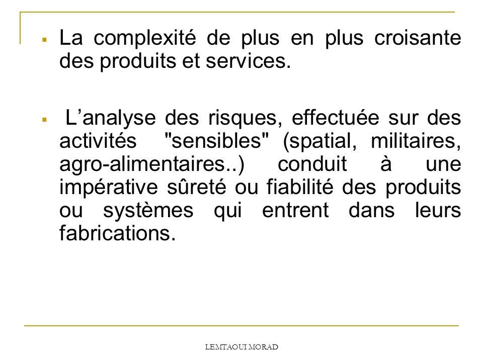 La complexité de plus en plus croisante des produits et services.