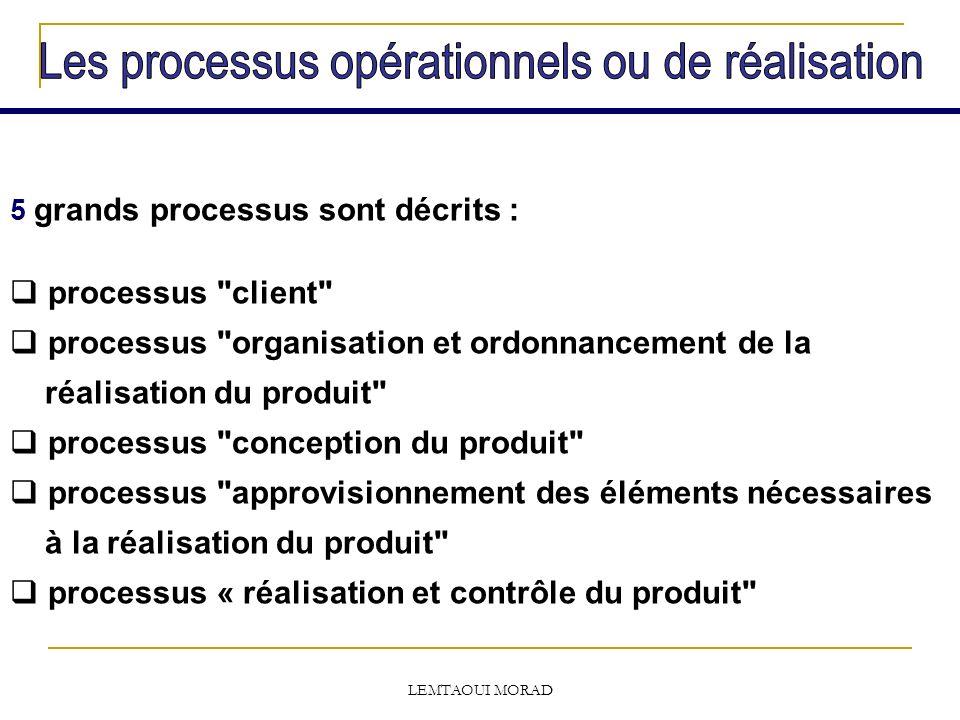 Les processus opérationnels ou de réalisation