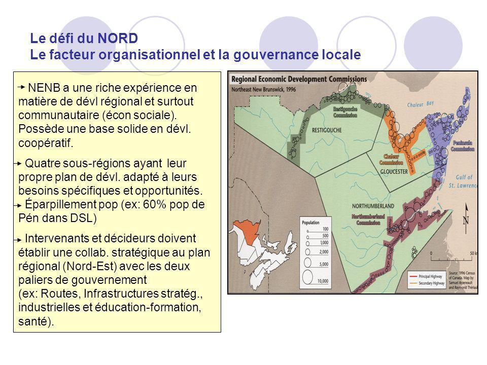 Le défi du NORD Le facteur organisationnel et la gouvernance locale