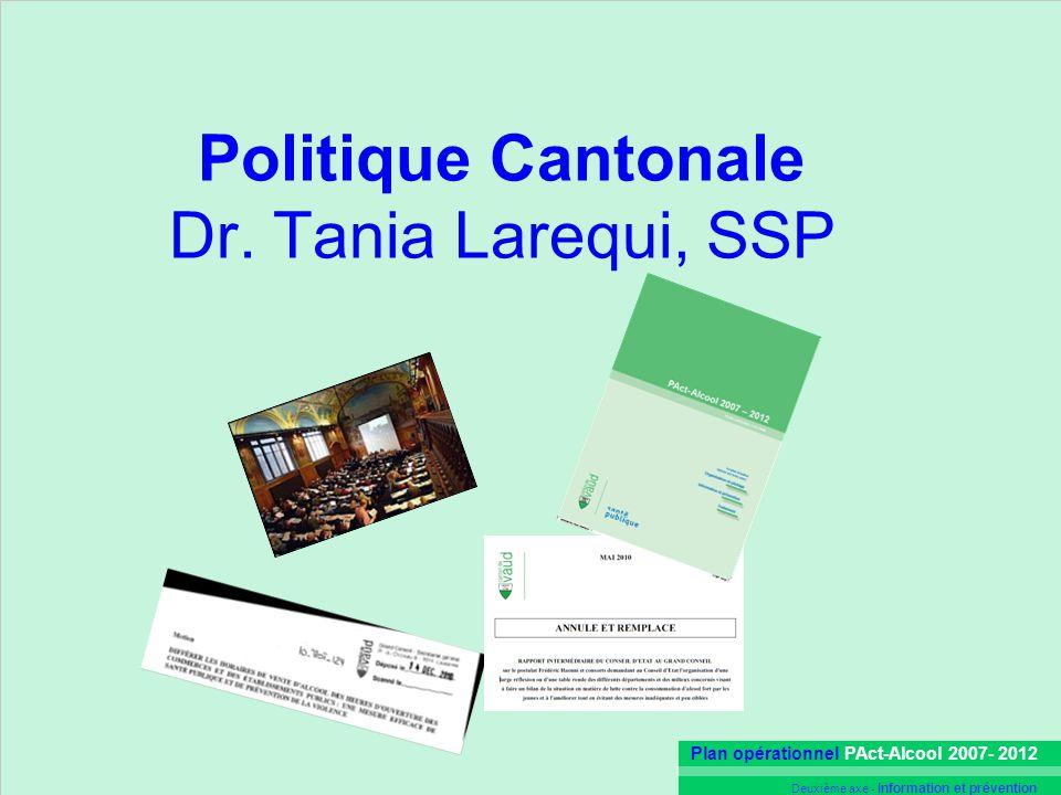 Politique Cantonale Dr. Tania Larequi, SSP