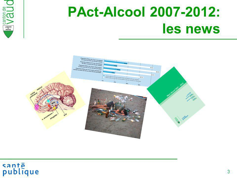 PAct-Alcool 2007-2012: les news