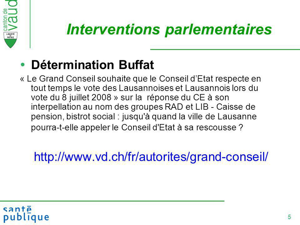 Interventions parlementaires