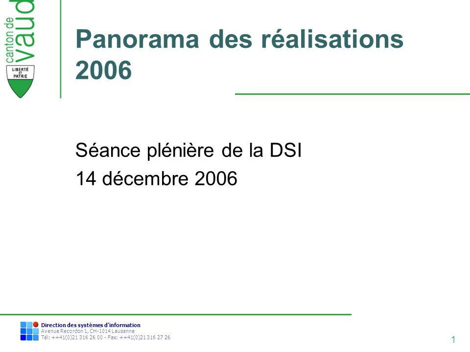 Panorama des réalisations 2006