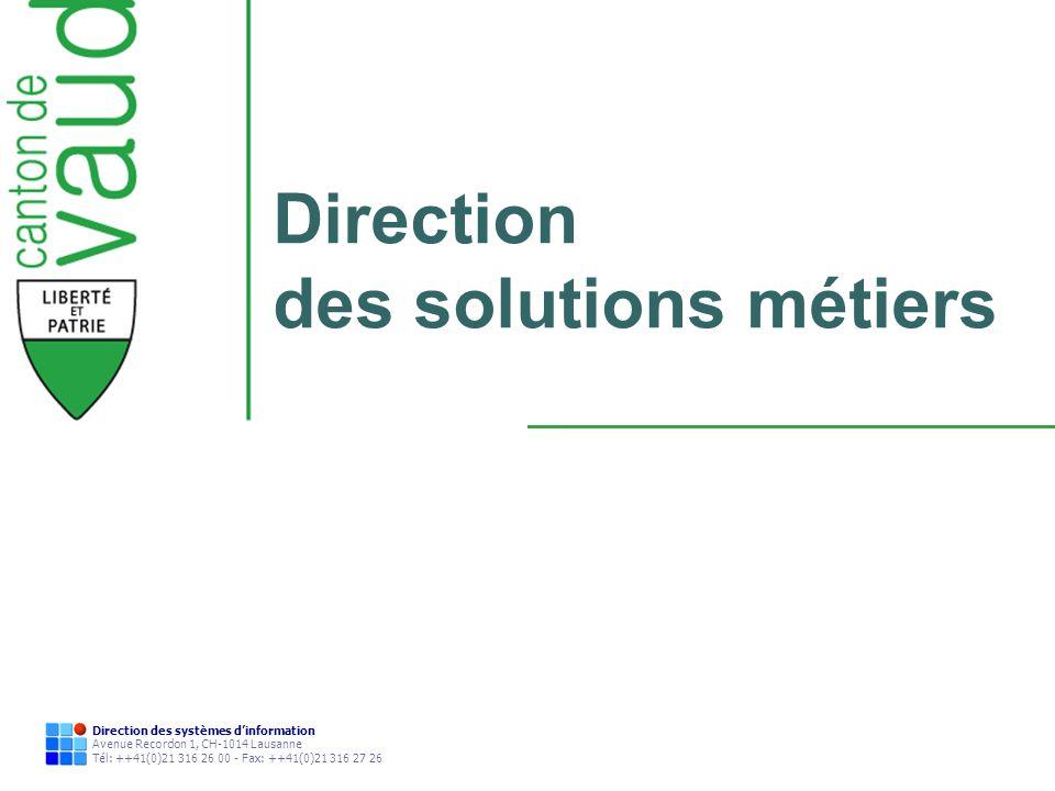 Direction des solutions métiers