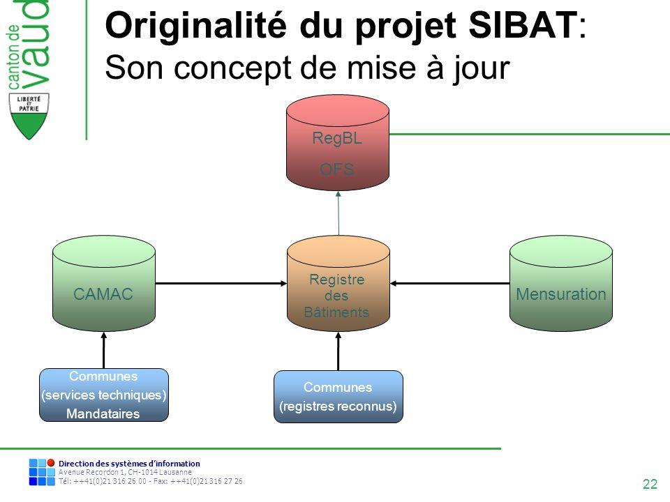 Originalité du projet SIBAT: Son concept de mise à jour