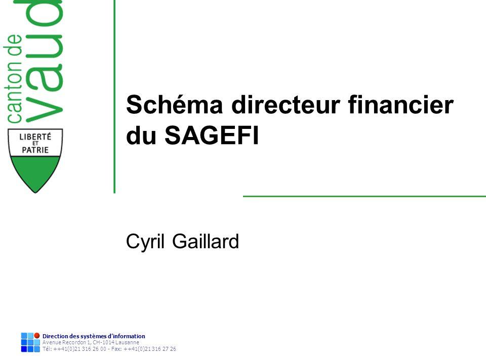 Schéma directeur financier du SAGEFI