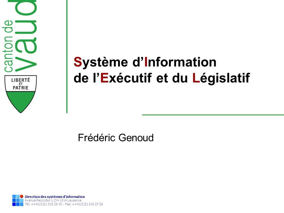 Système d'Information de l'Exécutif et du Législatif