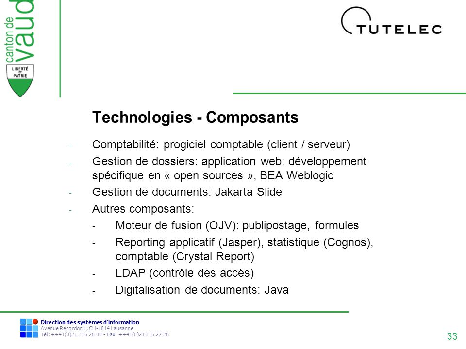 Technologies - Composants
