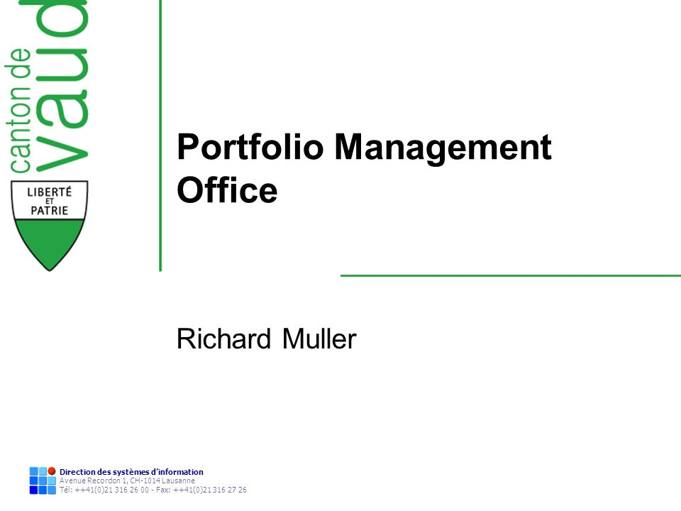 Portfolio Management Office