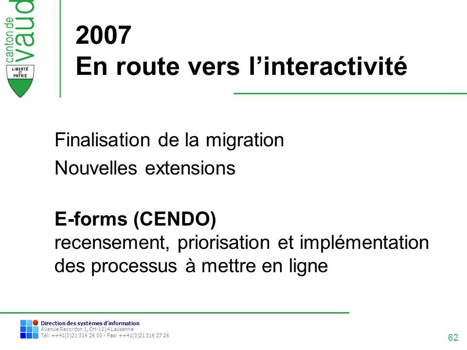 2007 En route vers l'interactivité