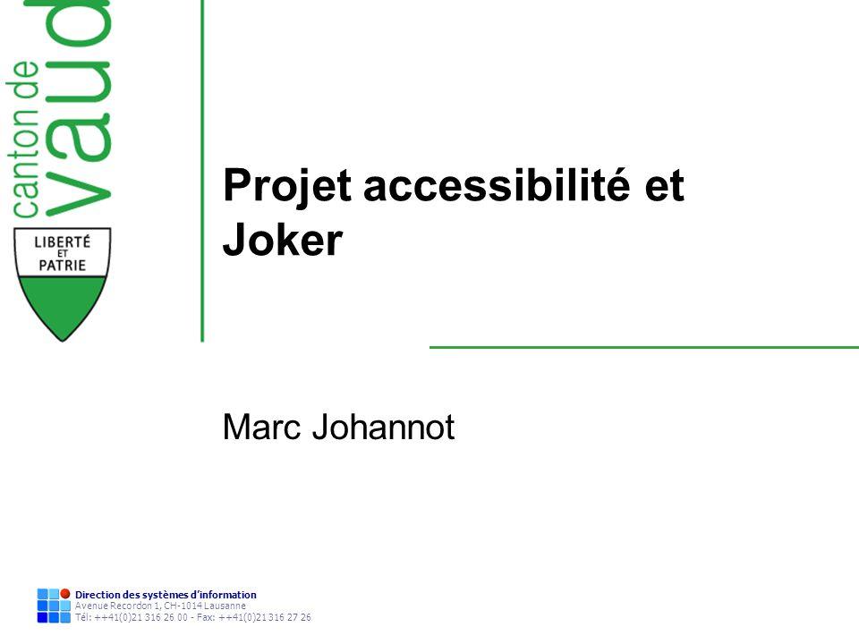 Projet accessibilité et Joker