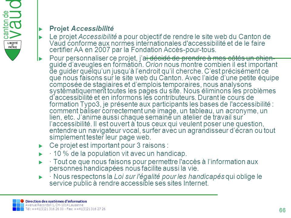 Projet Accessibilité