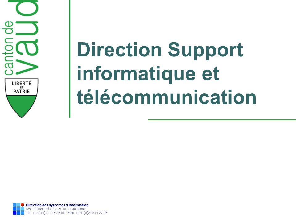 Direction Support informatique et télécommunication